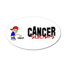 Cancer Sucks -- Sticker 20x12 Oval Wall Peel