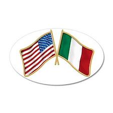 Italian american Pride 20x12 Oval Wall Peel