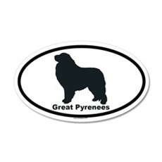 GREAT PYRENEES 20x12 Oval Wall Peel