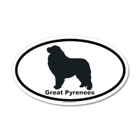 GREAT PYRENEES 35x21 Oval Wall Peel