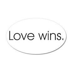 Love wins 20x12 Oval Wall Peel