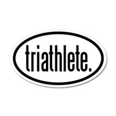 triathlete 20x12 Oval Wall Peel