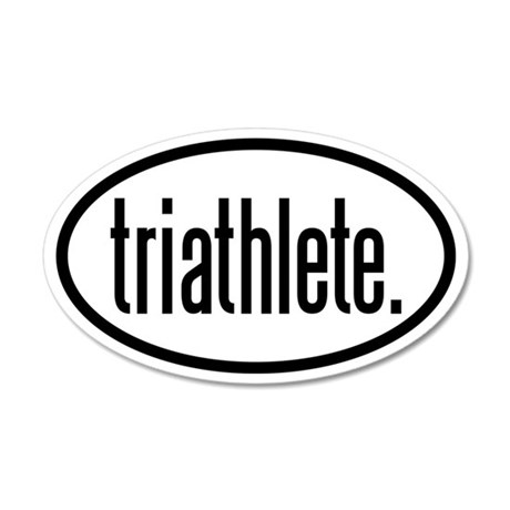 triathlete 35x21 Oval Wall Peel