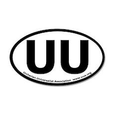 UU Bumper 20x12 Oval Wall Peel with UUA text