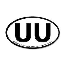 UU Bumper 35x21 Oval Wall Peel with UUA text