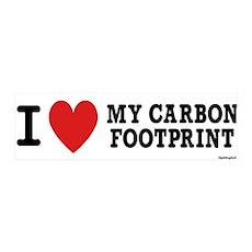 I Love My Carbon Footprint 36x11 Wall Peel