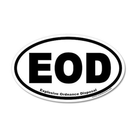 Explosive Ordnance Disposal EOD 35x21 Oval Wall Pe