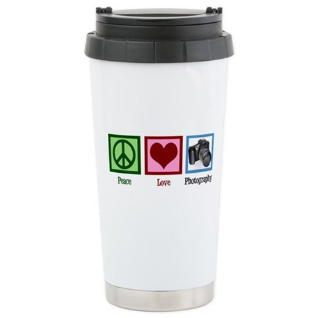 Peace Love Photography Stainless Steel Travel Mug