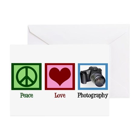 Peace Love Photography Greeting Cards (Pk of 10)