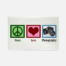 Peace Love Photography Rectangle Magnet