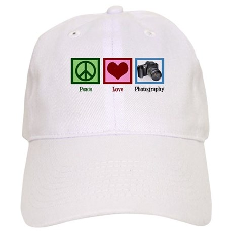 Peace Love Photography Cap