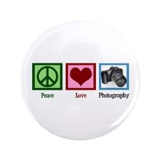 """Peace Love Photography 3.5"""" Button"""