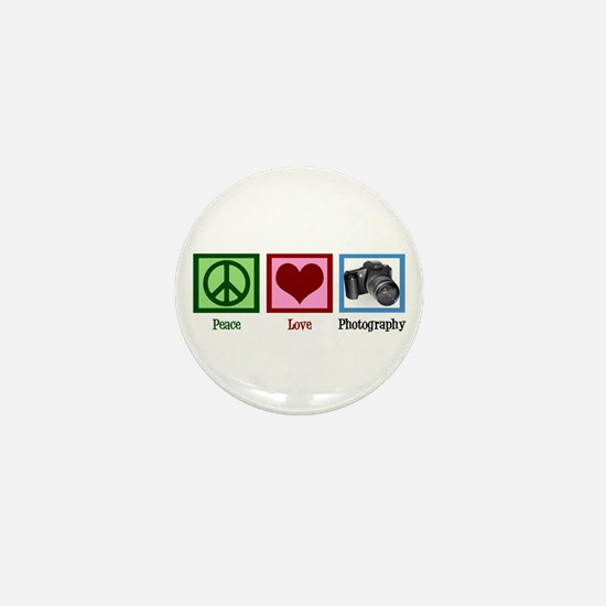 Peace Love Photography Mini Button