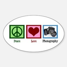 Peace Love Photography Decal