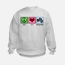 Peace Love Photography Sweatshirt