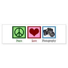 Peace Love Photography Bumper Sticker