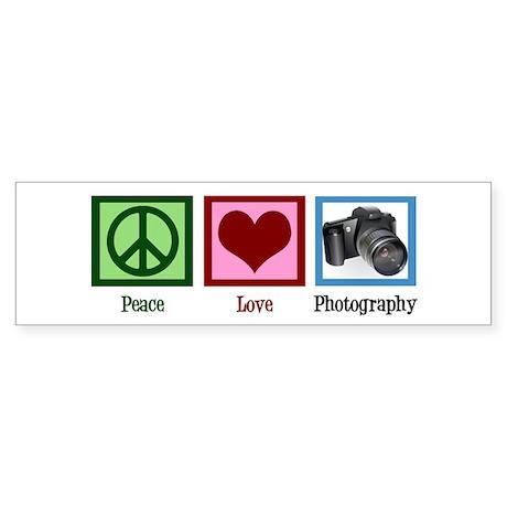 Peace Love Photography Sticker (Bumper)