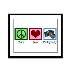 Peace Love Photography Framed Panel Print