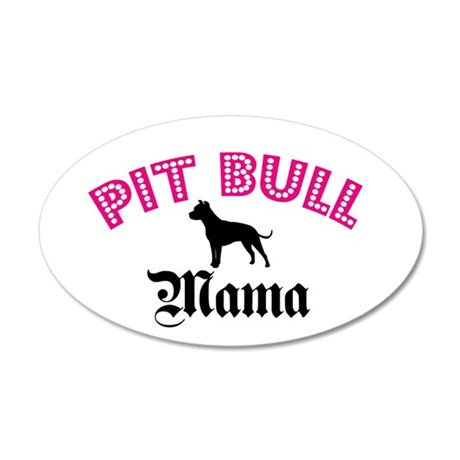 Pit Mama 35x21 Oval Wall Peel