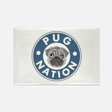 Pug Nation Rectangle Magnet