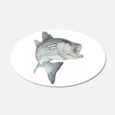 Lunker's Stripe Bass 20x12 Oval Wall Peel
