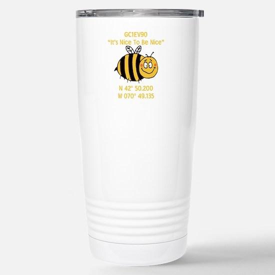 Bee Geocache Stainless Steel Travel Mug