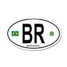 Brazil Intl Oval 20x12 Oval Wall Peel