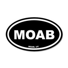 MOAB Utah Black Euro 35x21 Oval Wall Peel