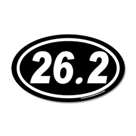 26.2 Euro Style 20x12 Oval Wall Peel (White Oval o