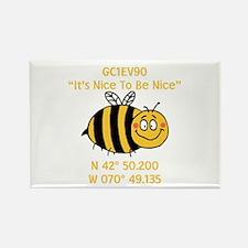 Bee Geocache Rectangle Magnet