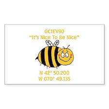 Bee Geocache Decal