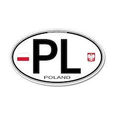 Poland Intl Oval 20x12 Oval Wall Peel