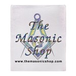 The Masonic Shop Logo Throw Blanket