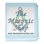 The Masonic Shop Logo baby blanket