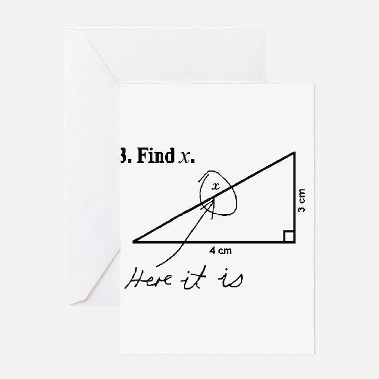 Find X (Stretch) Greeting Cards
