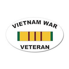 Vietnam War Veteran 2 20x12 Oval Wall Peel