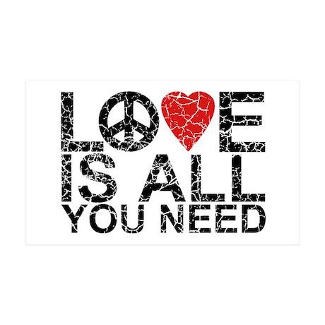 Love Is All 35x21 Wall Peel