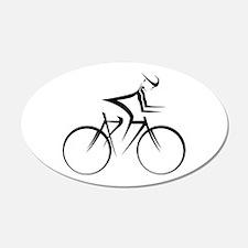Cycling 20x12 Oval Wall Peel