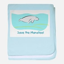 Save the Manatee! baby blanket
