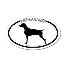 """Weimaraner"" White 20x12 Oval Wall Peel"
