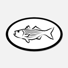 Striped Bass 20x12 Oval Wall Peel
