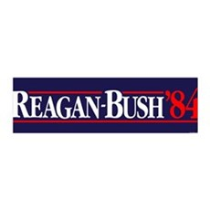 Reagan Bush '84 Campaign 36x11 Wall Peel