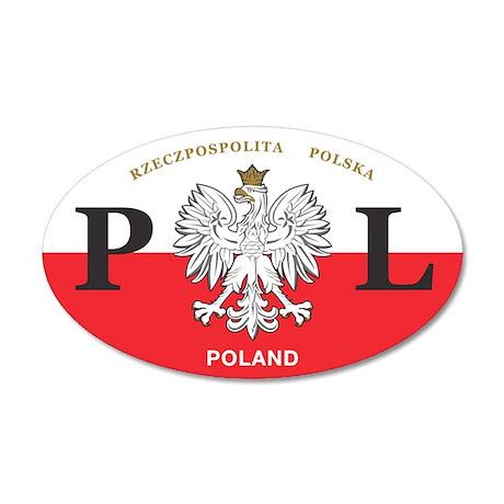 PL Car Decal - Polish Hritage - 20x12 Oval Wall Pe