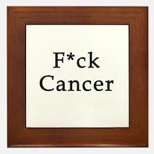 F*ck Cancer Framed Tile