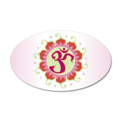 Lotus Aum Pink/Red - 35x21 Oval Wall Peel
