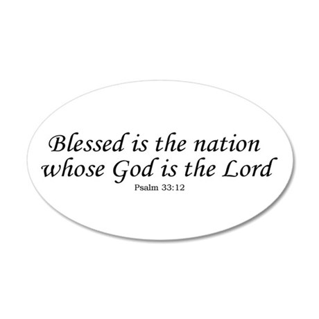 Blessed Nation 35x21 Oval Wall Peel