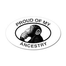 Proud of my Ancestry Chimp 20x12 Oval Wall Peel