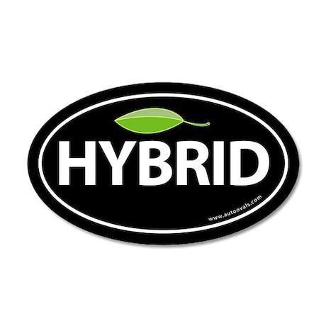 Hybrid Auto Bumper 20x12 Oval Wall Peel -Black wit