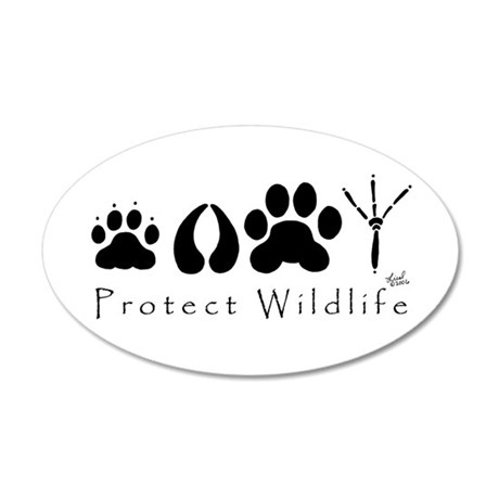 Protect Wildlife 20x12 Oval Wall Peel