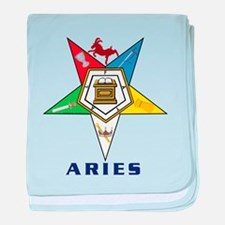 OES Aries Sign baby blanket